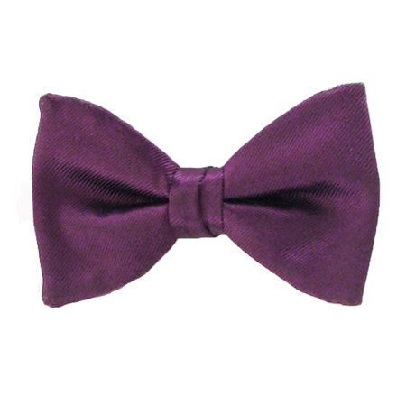 Picture of Simply Solid Aubergine Bow Tie