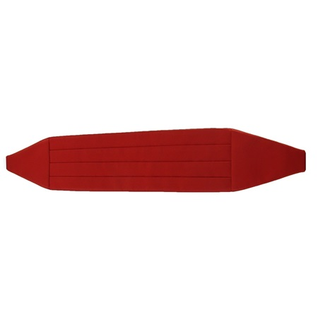 Picture of Simply Solid Ruby Cummerbund